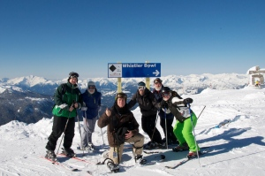 Most of the crew at Whistler Peak